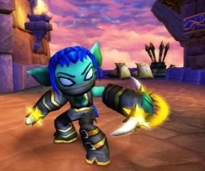 Skylander Stealth Elf, die Ninja-Krieger. Leben Skylanders puzzle