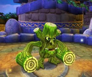 Skylander Stump Smash, der Hammer Kreatur hat Holzscheite anstelle der Arme. Skylanders Leben puzzle