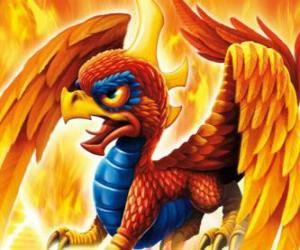 Skylander Sunburn, ein geflügelter Drache. Feuer Skylanders puzzle