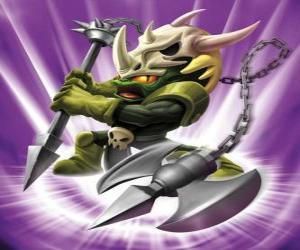 Skylander Voodood, tapferer Krieger. Magie Skylanders puzzle