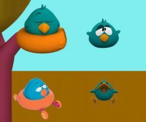 Sleepy Bird ist eine sehr schläfrig und verschroben Vogel puzzle