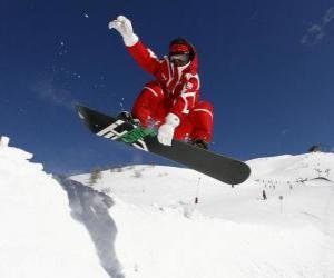 Snowboarder macht einen Trick puzzle