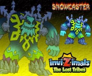 Snowcaster. Invizimals Die verlorenen Stämme. Die höchsten Herrn Eis, eine mystische und leistungsstarken weise, die lebt in den Gletschern puzzle