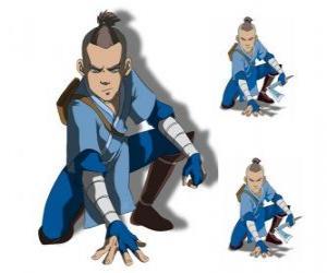 Sokka ist eine 15 Jahre alte Krieger des Südlicher Wasser-Stamm, die mit Aang geht puzzle