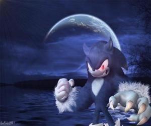 Sonic the Werehog, die neueste Sonic-Transformation, bei Nacht verwandelt er in einen Wolf Igel puzzle