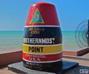 Southernmost Point, (südlichste), Key West, Florida, Vereinigte Staaten puzzle