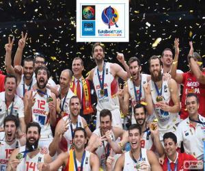 Spanien, Basketball-Europameisterschaft 2015 puzzle