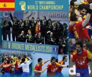 Spanien Bronze Medaille bei den 2011 World Handball puzzle
