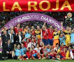 Spanien, UEFA EURO 2012 meister puzzle