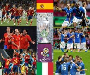 Spanien Vs Italien. Euro 2012 Finale puzzle