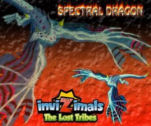 Spectral Dragon. Invizimals Die verlorenen Stämme. Bösen Invizimal, die leicht Prügelspiele sicherstellt, wenn Sie an Ihrer Seite haben mutig sind puzzle