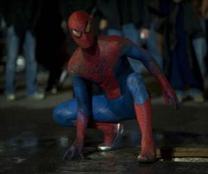 Spider-man auf den Straßen von New York puzzle