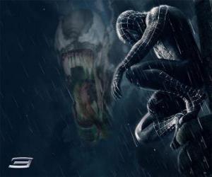 Spiderman Venom Aktien mit vielen seiner Kräfte und Fähigkeiten puzzle