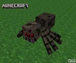 Spinne, eine der Kreaturen von Minecraft puzzle
