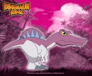 Spiny, Spino. Dinosaurier-Spinosaurus, im Besitz von Zander von Alpha Gang puzzle