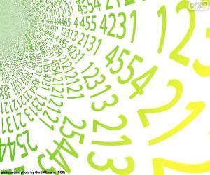 Spirale der Zahlen puzzle