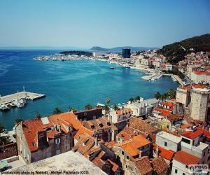Split, Kroatien puzzle