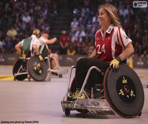 Sportler mit Behinderungen puzzle