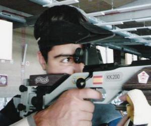 Sportschießen - Luftgewehr shooter in aktion puzzle