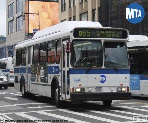 Städtische Busse von New York City puzzle