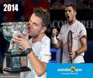 Stanislas Wawrinka Meister Open Australien 2014 puzzle
