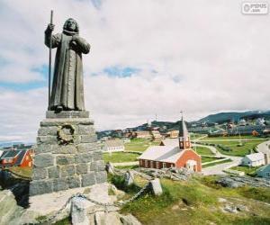 Statue von Hans Egede, Nuuk, Grönland puzzle