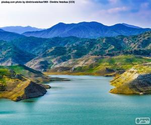 Staudamm von Kalavasos, Zypern puzzle