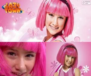 Stephanie, das Mädchen Protagonist aus Lazy Town, die die Farbe Rosa liebt puzzle