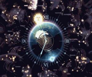 Sternzeichen-Uhr puzzle