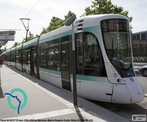 Straßenbahn in Île-de-France (Paris) puzzle