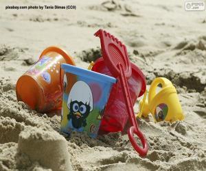 Strandspielzeug puzzle