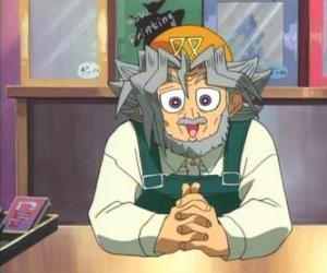Sugoroku Muto oder Solomon Muto ist der Großvater von Yugi und Besitzer eines Brettspiele Geschäft puzzle
