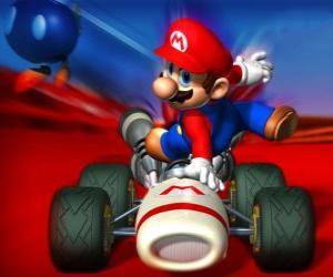 Super Mario Kart ist ein Rennspiel puzzle