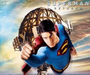 Superman, der Superheld unter puzzle