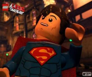 Superman, ein Superheld aus dem Lego-Film puzzle