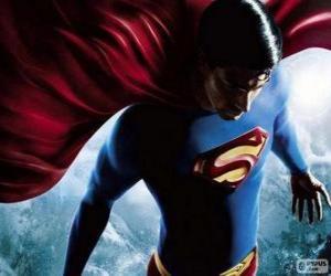 Superman, eines der bekanntesten Superhelden puzzle