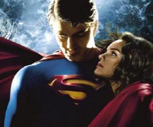 Superman mit Lois Lane, reporter und seine wahre und große liebe puzzle
