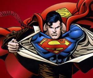 Superman, Zeichnung puzzle