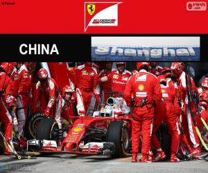 S.Vettel Großer Preis von China 2016 puzzle