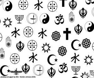 Symbole der Religionen puzzle