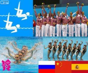 Synchronschwimmen Team London 2012 puzzle
