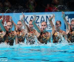 Synchronschwimmen puzzle