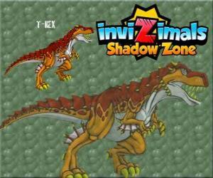 T-Rex. Invizimals Schattenzone. Die mächtigen T-Rex ist ein Invizimal Dinosaurier puzzle