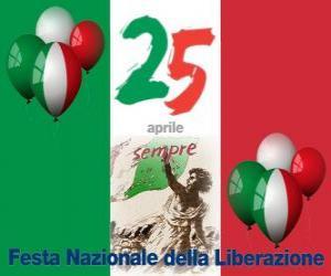 Tag der Befreiung gefeiert italienischen Feiertag am 25. April puzzle