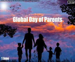 Tag der Mütter und Väter puzzle