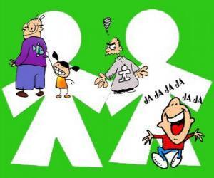 Tag der Unschuldigen Kinder, ist 28. Dezember gefeiert Witze oder Streiche in Spanien und einigen lateinamerikanischen Ländern puzzle