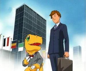 Tai und Agumon funktionieren wird puzzle