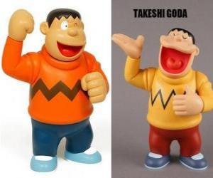 Takeshi Goda von seinen Kollegen als Jyian bekannt, denn er ist ein großer und starker Junge puzzle