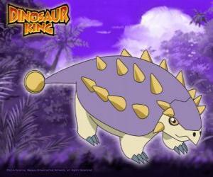 Tank, Saika. Dieser Saichania Dinosaurier ist im Besitz von Ed von Alpha Gang puzzle