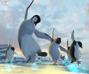 Tanzende Pinguine in Happy Feet movies puzzle